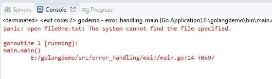 Golang Error Handling
