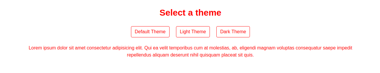 Default Theme of CSS
