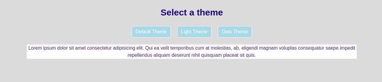 Light Theme of CSS