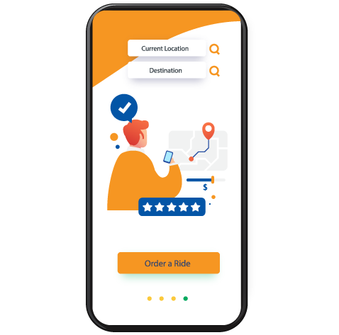 Passenger Panel - Taxi App Development
